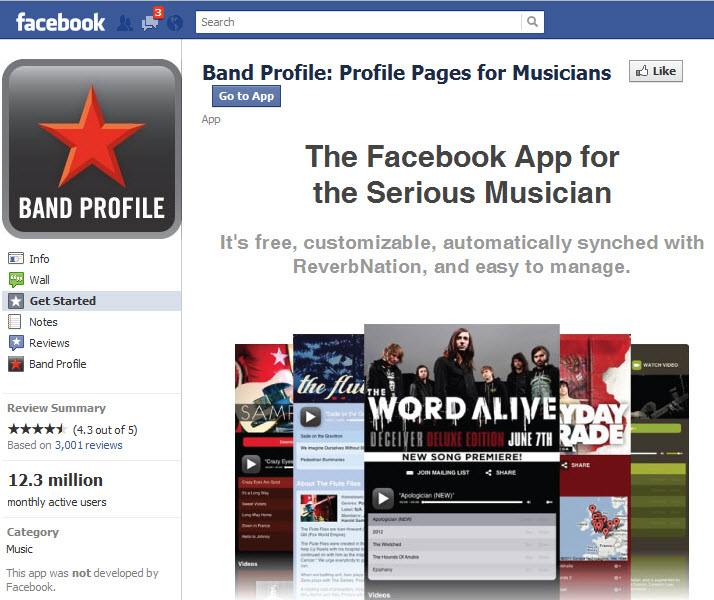 Band Profile Facebook App Root Music