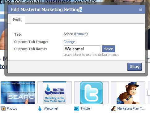Facebook Page Application Image