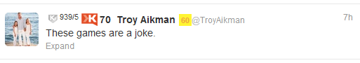 Troy Aikman Tweet of Officials