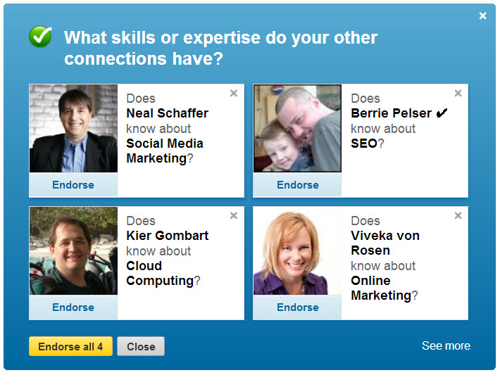 linkedin endorse 2 Social Search & Influence Games: Why Did You Do It LinkedIn?