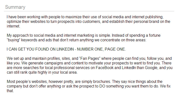 linkedin page 1 Social Search & Influence Games: Why Did You Do It LinkedIn?