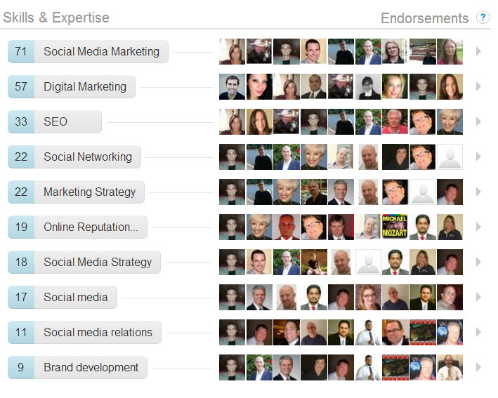 linkedin pam moore endorsements Social Search & Influence Games: Why Did You Do It LinkedIn?