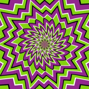 Optical Illusion to illustrate marketing insanity