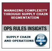 Supply Chain Operations, Complexity, Supply Chain