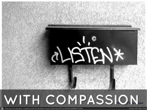 A compassionate ear helps improve morale