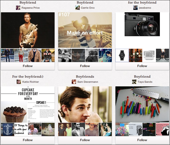 """The popularity of """"For the Boyfriend"""" boards on Pinterest can be a great marketing resource for """"manly"""" brands"""