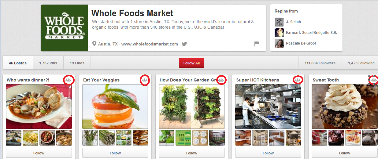 Whole Foods Pinterest Page New