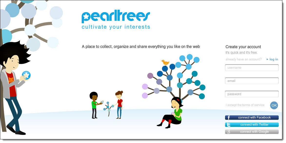 Pearltrees content curation