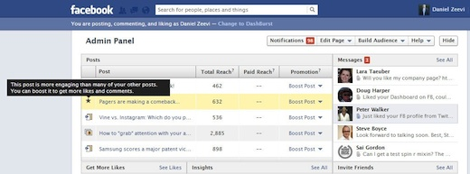 facebook highlighted page posts