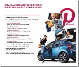 How to host Pinterest competitions across multiple international markets - learnings from the Nissan Europe #MicraAttitude campaign by @KrishnaDe