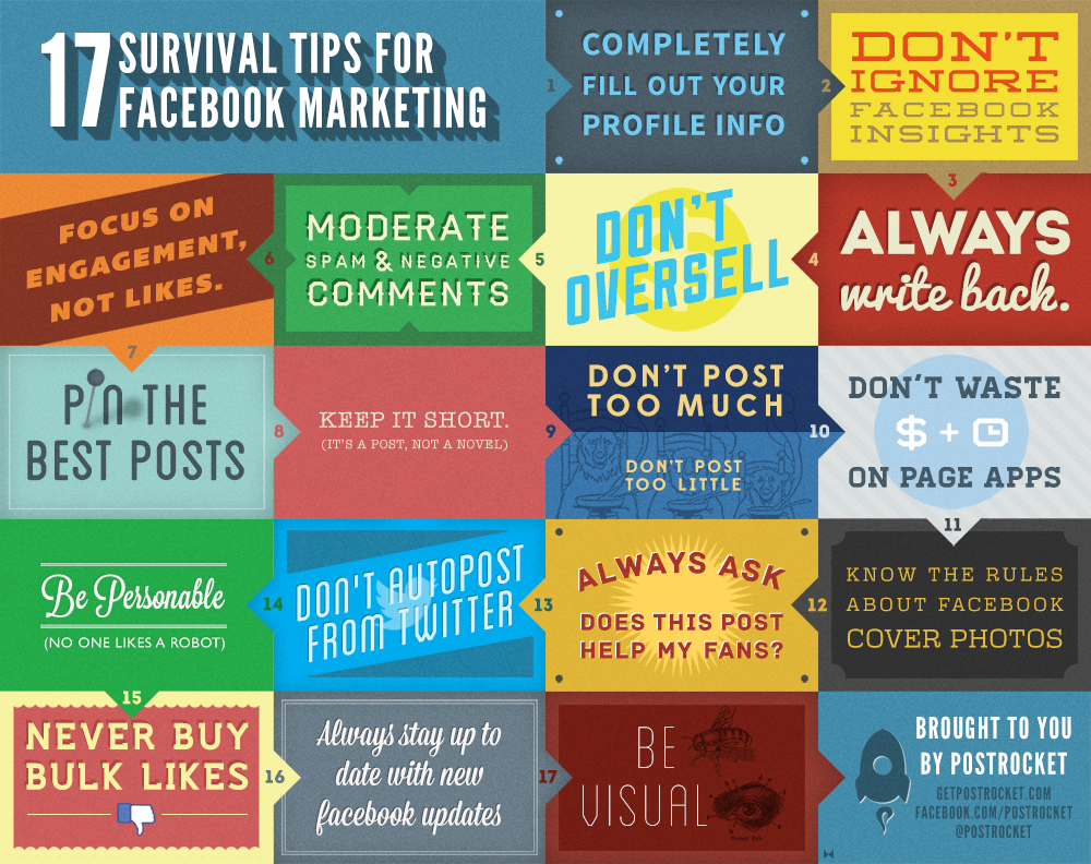 Tips For Facebook Marketing Infographic