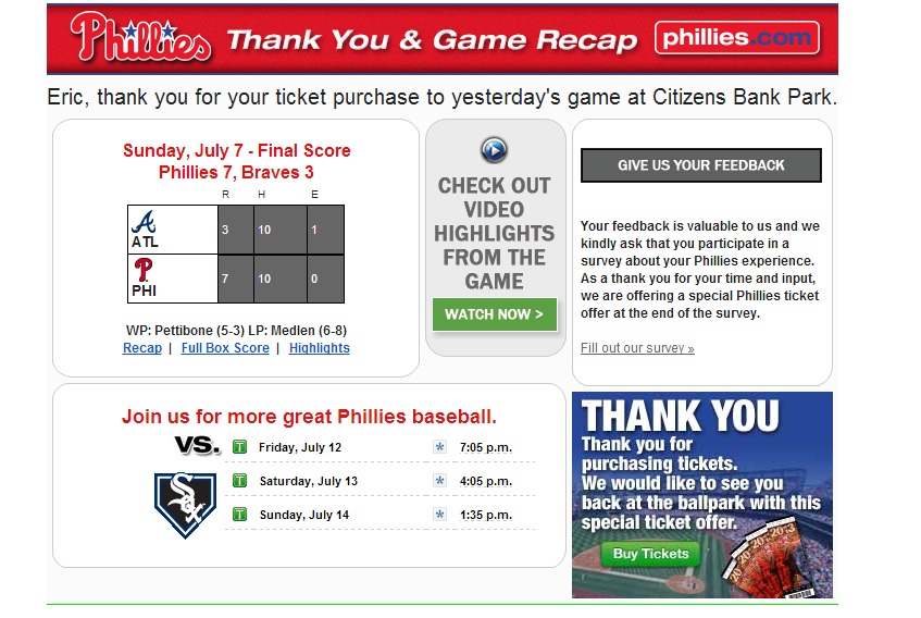 phillies email The 10 Elements of Great Customer Follow up