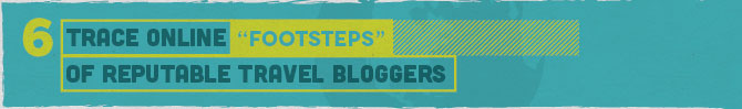 12 Authoritative Link Building Tactics for the Luxury Travel Industry Trace Online Footsteps of Reputable Travel Bloggers
