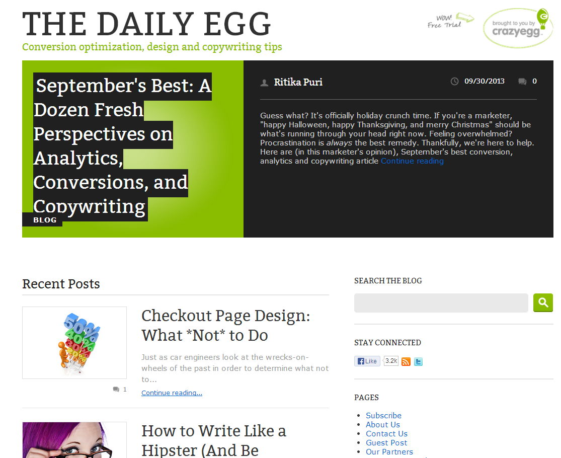 The Daily Egg Blog