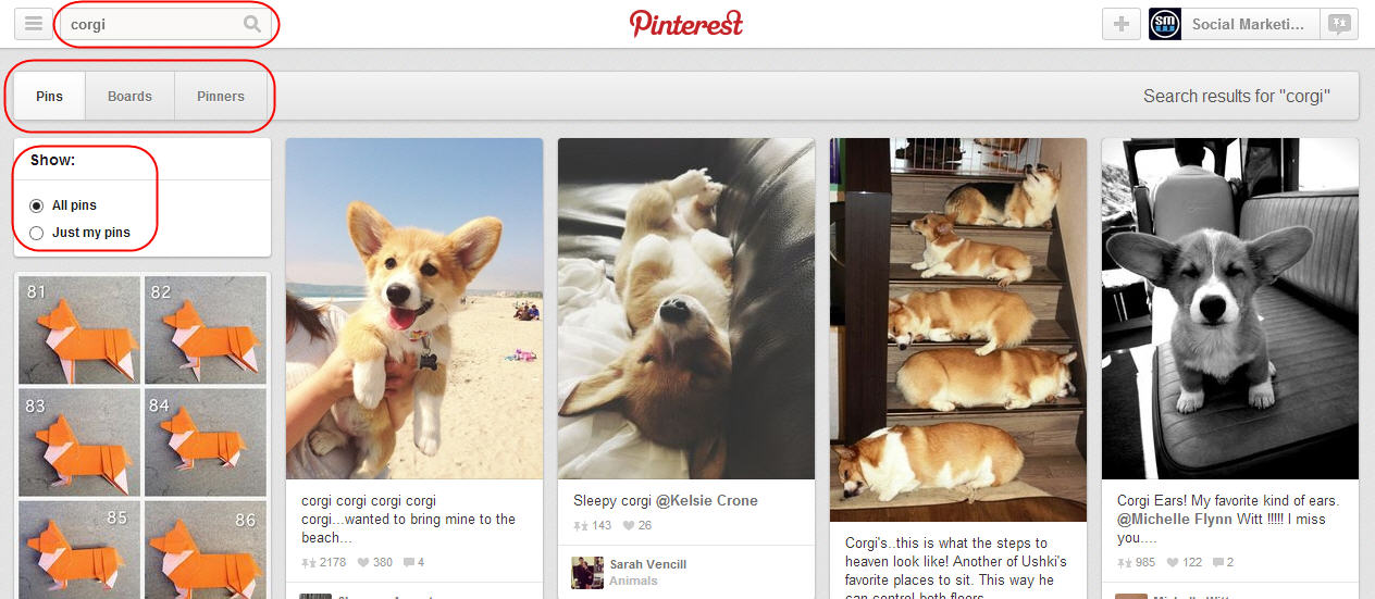 Choose the Pins, Boards and Pinners You Would Like to View on Pinterest