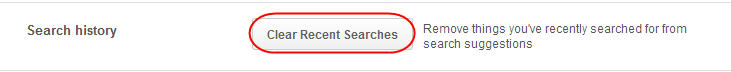 Clear Search History on Pinterest