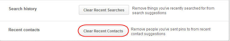 Cleat Recent Contacts on Pinterest