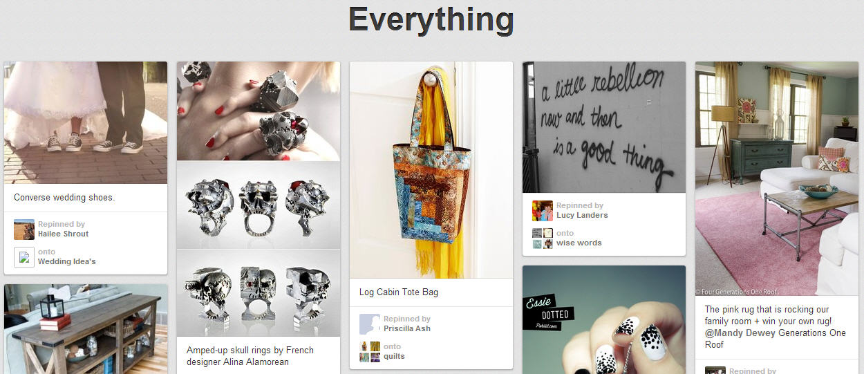 Pinterest Everything Section