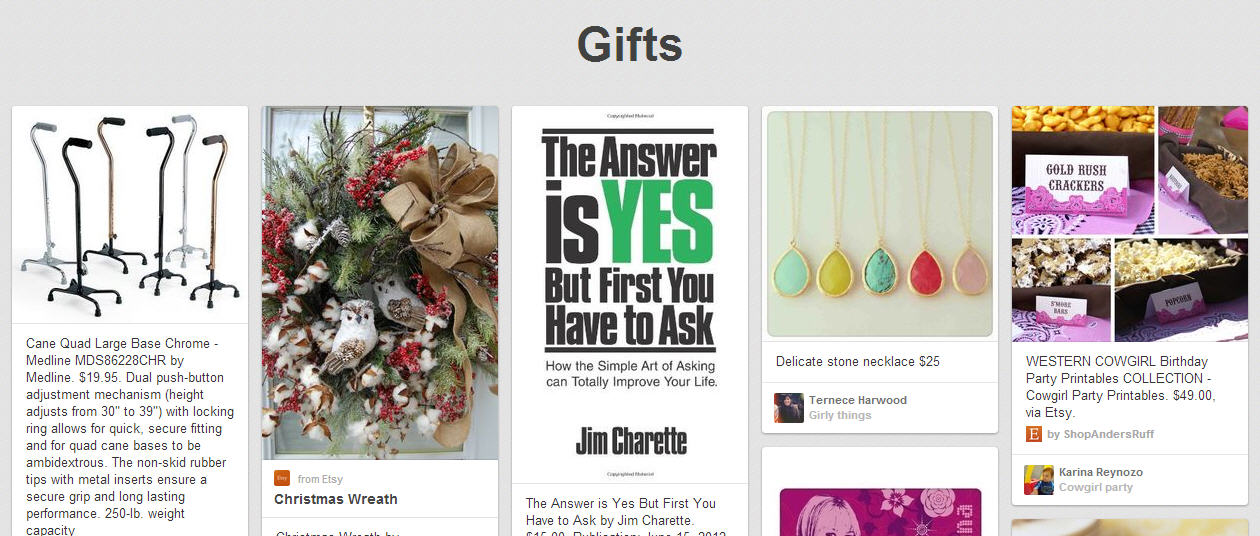 Quickly Find Gifts on Pinterest