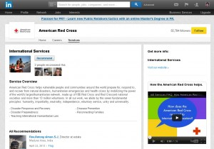 LinkedIn Services example - American Red Cross