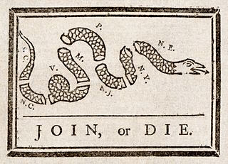 Join or Die infographic created by Benjamin Franklin image from UsefulUsability.com