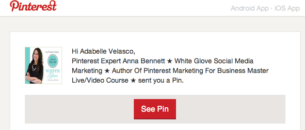 Pinner receives an email shared via Pinterest's email feature.png