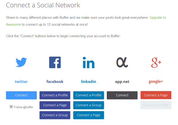 Adding Social Network to Buffer