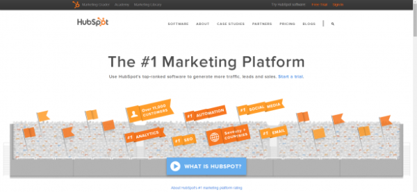 hubspot homepage call-to-action