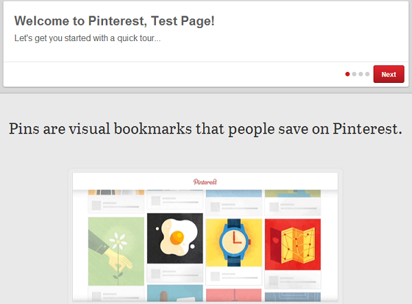 Browse Through the Pinterest Brand Page Quick Tour