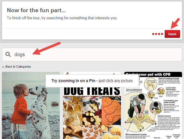 End the Pinterest Brand Page Tour With a Search