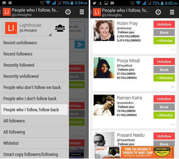 Unfollowers – Your Social Media Management And Analytics App