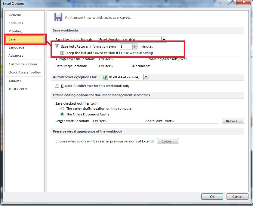 """How to Retrieve """"Unsaved"""" Excel File Saved with Autosave"""