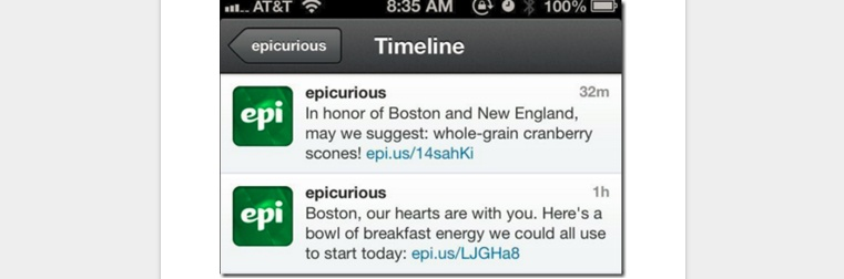 epicurious timeline